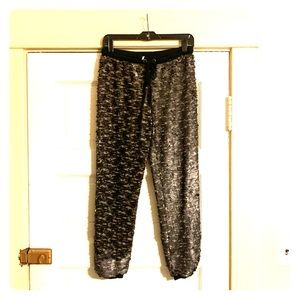 Free People Sequin Joggers, Gray/Black Size XS